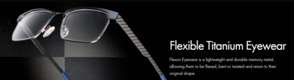 flexon fashion glasses black and blue metal
