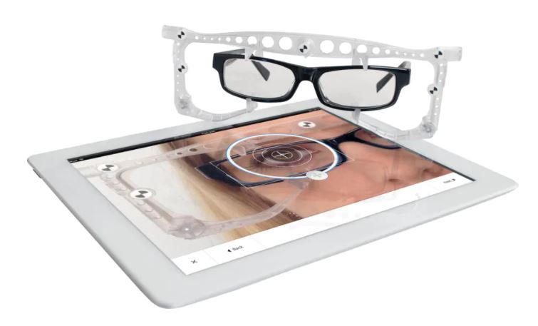 zeiss i terminal showing frame reference clip and iPad