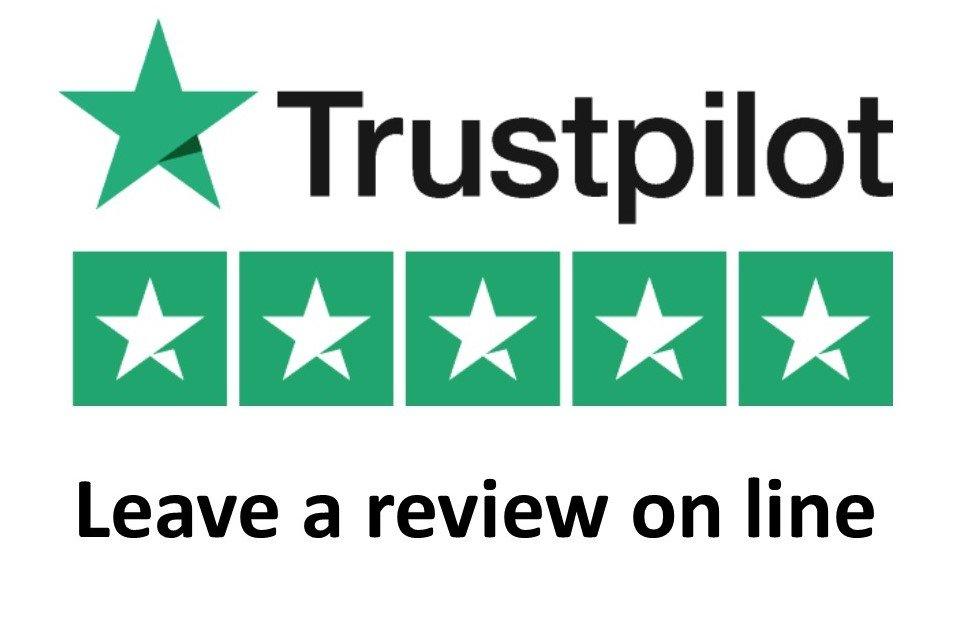 Trustpilot leave a review logo