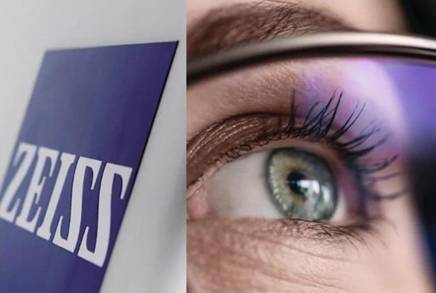 Zeiss logo eye and anti reflection lens